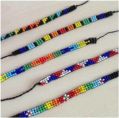 Colourful Glass Beaded Handmade Wish/Friendship Bracelets