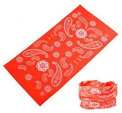 Dreadz 12 in 1 Multi-Function Tubular Headband / Headwear (Red/White Paisley)
