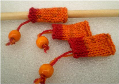 Dreadz Hand-Made Knitted Lock Sleeve x 1 (#212) Orange/Red