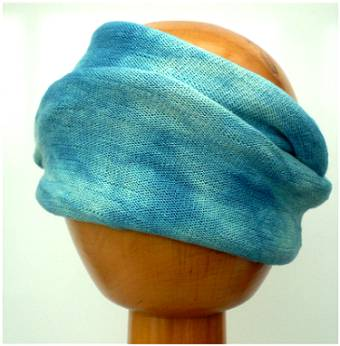 Dreadz Fair Trade Tie Dye Stretch Cotton Dreadlock Headwrap/Dreadwrap Blues