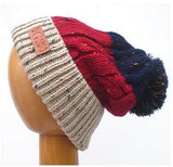 Dreadz Gew Gaw Fleck Bobble Beanie (Navy/Red/Cream)
