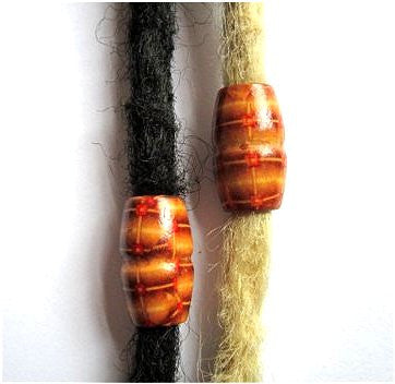 Dreadz Large Wooden Dread Hair Beads (10mm Hole) x 1 Bead