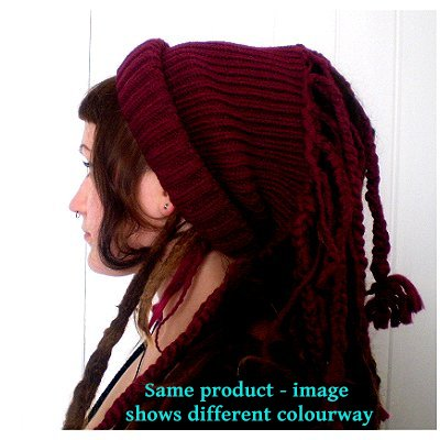 Dreadz Ribbed Open Top Dreadfall Beanie Hat (AL)