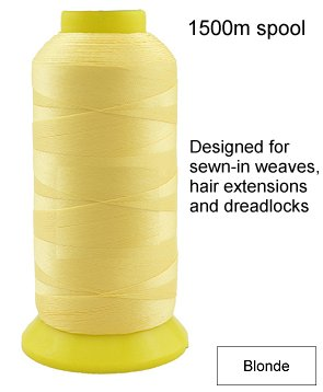 A Hair Extension Weaving Thread 1500m (Blonde)