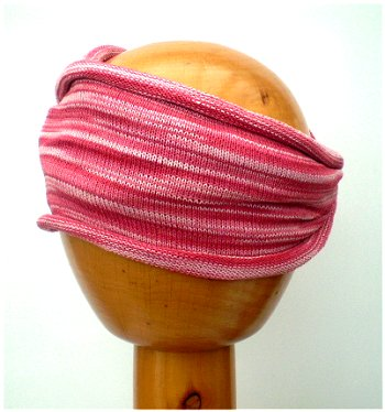 Dreadz Fair Trade Multi Colour Tribal Headwrap/Headband (AW_06) (Pinks)