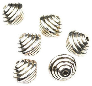 Dreadz Silver Swirl Dreadlock Hair Beads (5mm Hole) x 3 Bead Pack