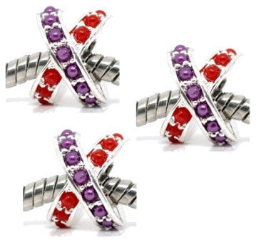 Dreadz X-Shaped Dreadlock Hair Beads (5mm Hole) x 3 Bead Pack