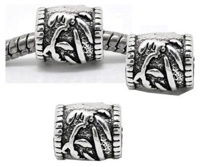 Dreadz Silver Palm Dreadlock Hair Beads (5mm Hole) x 3 Bead Pack