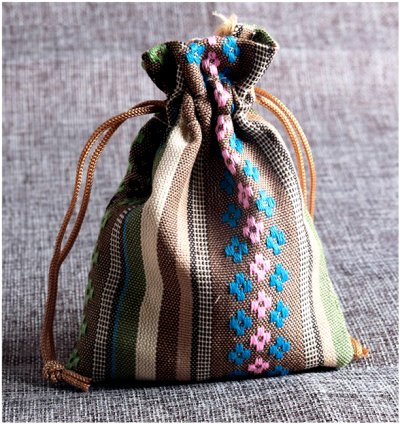 Dreadz Drawstring Bead Bag (Ethnic Style 4)