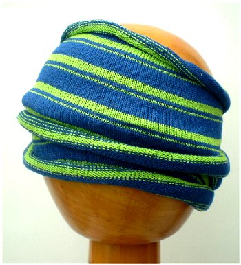 Dreadz Fair Trade Multi Colour Tribal Headwrap/Headband (GR_09) (Blue/Lime Green)