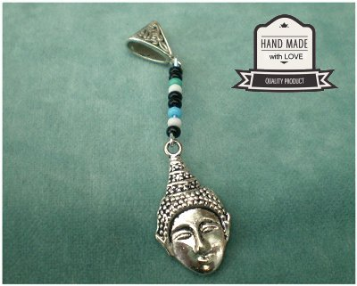Dreadz Buddha Dangle Dreadlock Hair Beads (5mm Hole) (G_01) x 1 Bead