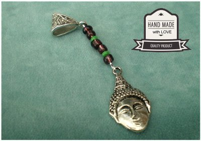 Dreadz Buddha Dangle Dreadlock Hair Beads (5mm Hole) (G_04) x 1 Bead