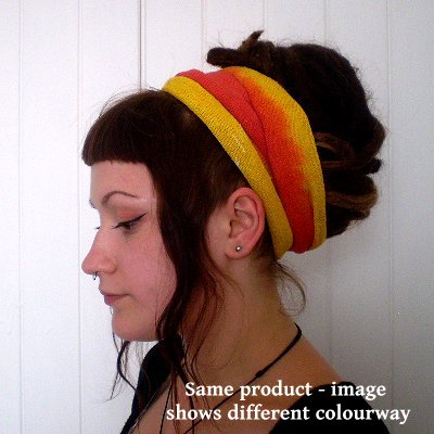 A Fair Trade Tie Dye Stretch Cotton Headwrap/Dreadwrap