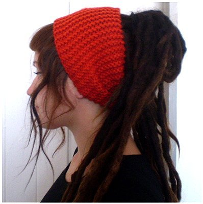 Dreadz Chunky Knitted Head Band / Tube (Orange)