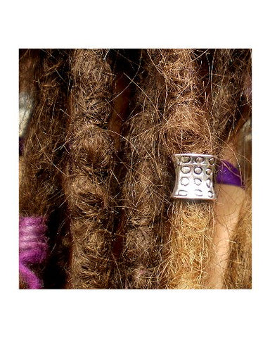 Dreadz Antique Silver Tibetan Style Hair Bead (7.5mm Hole) x 1 Bead