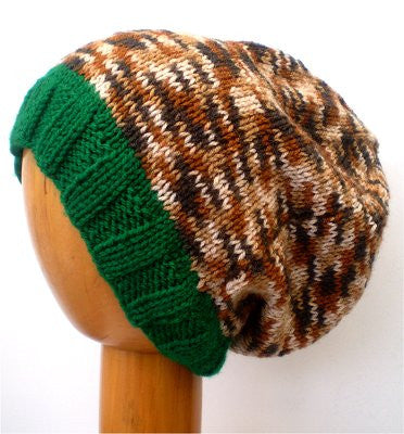 Dreadz Multi Coloured Slouchy Ribbed Brim Beanie Hat (Colour #9206)