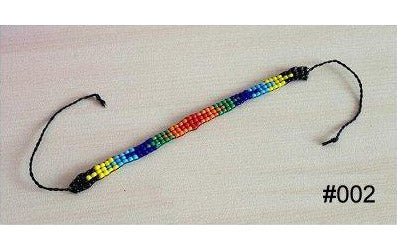 Colourful Multi-Coloured Glass Beaded Handmade Wish/Friendship Bracelet (#002)