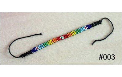 Colourful Multi-Coloured Glass Beaded Handmade Wish/Friendship Bracelet (#003)