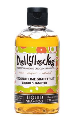 Dollylocks All-Natural, Organic, Vegan, Sulfate-Free, Residue-Free, Coconut Lime Grapefruit Liquid Dreadlocks Shampoo (8oz)