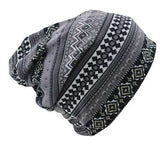 Dreadz 3-in-1 Multi-Function Tubular Beanie/Headwrap/Neckwarmer (Black/Grey Ethnic)
