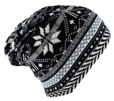 Dreadz 3-in-1 Multi-Function Tubular Beanie/Headwrap/Neckwarmer (Black/Grey Nordic)