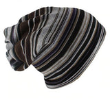 Dreadz 3-in-1 Multi-Function Tubular Beanie/Headwrap/Neckwarmer (Brown/Grey Stripes)