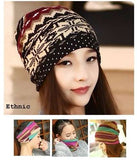 Dreadz 3-in-1 Multi-Function Tubular Beanie/Headwrap/Neckwarmer (Ethnic)