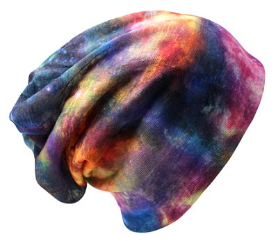 Dreadz 3-in-1 Multi-Function Tubular Beanie/Headwrap/Neckwarmer (Multi Tie Dye)