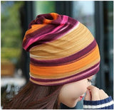 Dreadz 3-in-1 Multi-Function Tubular Beanie/Headwrap/Neckwarmer (Orange/Pink Stripes)