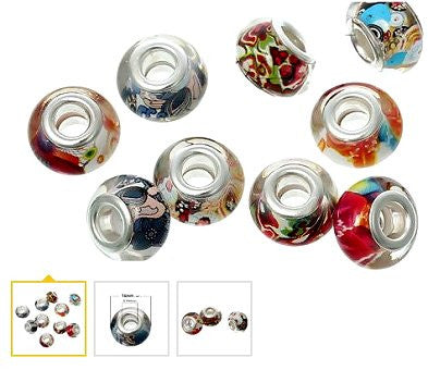 Dreadz Round Acrylic Bright Mix Dreadlock Hair Beads (5mm Hole) x 3 Bead Pack