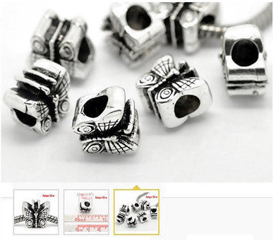 Dreadz Silver Butterfly Dreadlock Hair Beads (5mm Hole) x 3 Beads