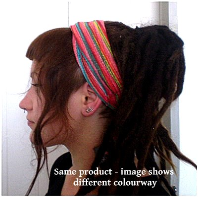 Dreadz Fair Trade Multi Coloured Striped Headband