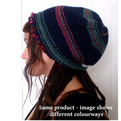 Hand Knitted Slouchy Beanie Hat
