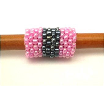 Handmade Peyote Stitch Beaded Dreadlock Sleeve (7mm Hole) x 1 (#0021)
