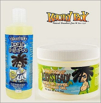 Knotty Boy 8oz. Liquid Dread Shampoo & 4oz. Locksteady Tightening Gel DUO