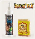 Knotty Boy All Purpose Shampoo Soap Bar Citrus Ginger And Coco Knotty Coconut Conditioning Spray Combo Pack