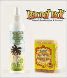Knotty Boy Citrus Ginger Bar & Green Tea Conditioning Spray Combo