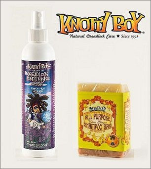 Knotty Boy Citrus Ginger Bar & Lavender Conditioning Spray Combo