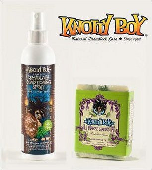 Knotty Boy All Purpose Shampoo Soap Bar Fresh Cut Grass And Coco Knotty Coconut Conditioning Spray Combo Pack