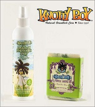 Knotty Boy Fresh Cut Grass Bar & Green Tea Conditioning Spray Combo