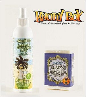 Knotty Boy Unscented Olive Oil Bar & Green Tea Conditioner Combo