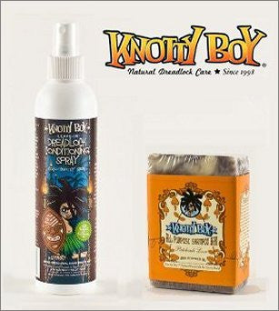 Knotty Boy All Purpose Shampoo Soap Bar Patchouli Love And Coco Knotty Coconut Conditioning Spray Combo Pack