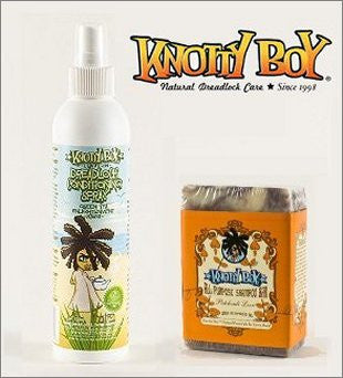 Knotty Boy Patchouli Bar & Green Tea Conditioning Spray Combo