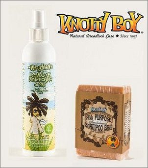 Knotty Boy Sandalwood Bar & Green Tea Conditioning Spray Combo