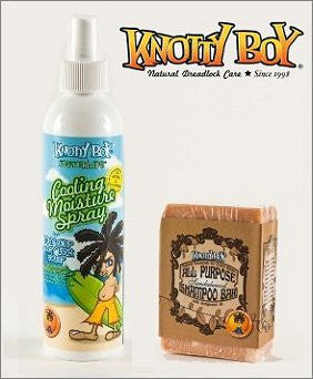 Knotty Boy Sandalwood Bar & Peppermint Cooling Spray Combo