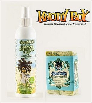 Knotty Boy Spearmint Tingle Bar & Green Tea Conditioner Spray Combo