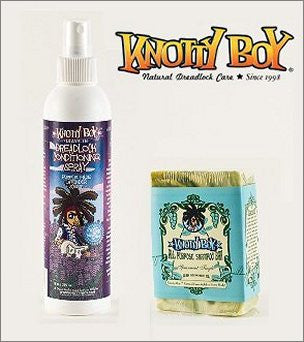 Knotty Boy Spearmint Tingle Bar & Lavender Conditioner Spray Combo