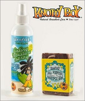 Knotty Boy Tahitian Vanilla Bar & Peppermint Cooling Spray Combo