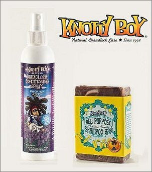 Knotty Boy Tahitian Vanilla Bar & Lavender Conditioner Spray Combo