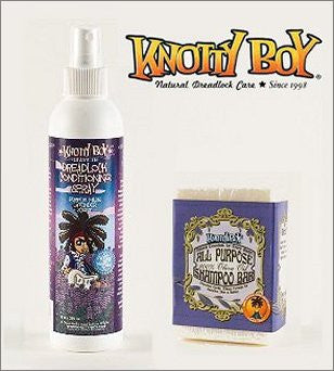 Knotty Boy Unscented Olive Oil Bar & Lavender Conditioner Combo